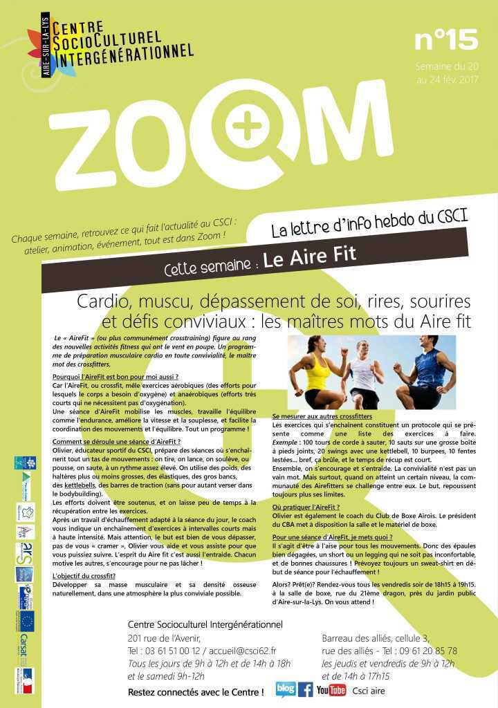 ZOOM N°15 : LE AIRE FIT